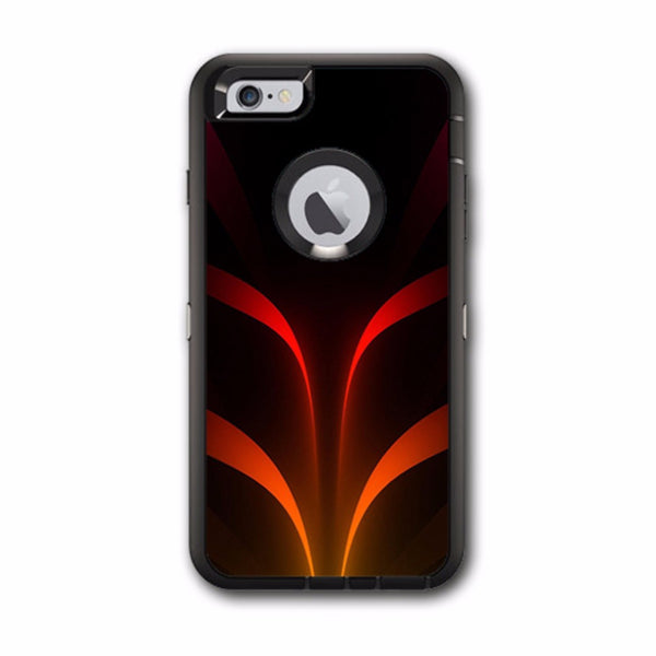 size 40 91429 03e0a Red Orange Abstract Otterbox Defender iPhone 6 PLUS Skin