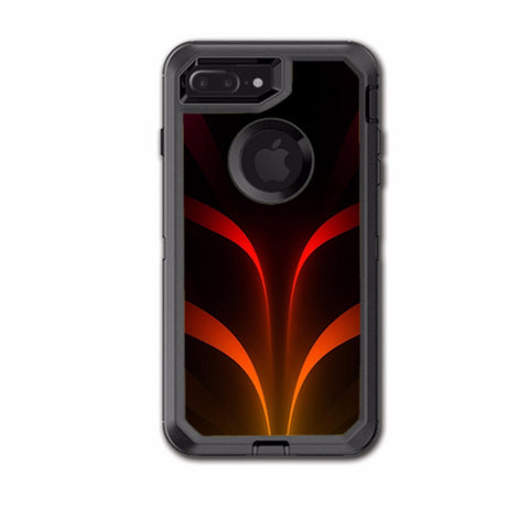 Red Orange Abstract Otterbox Defender iPhone 7+ Plus or iPhone 8+ Plus Skin