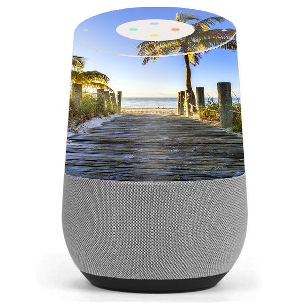 The Beach Tropical Sunshine Vacation Google Home Skin