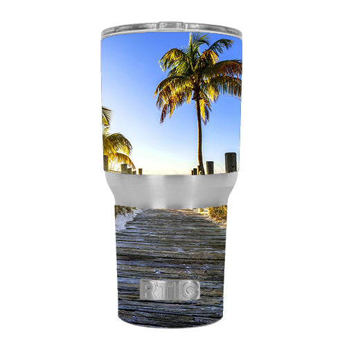 The Beach Tropical Sunshine RTIC 30oz Tumbler Skin