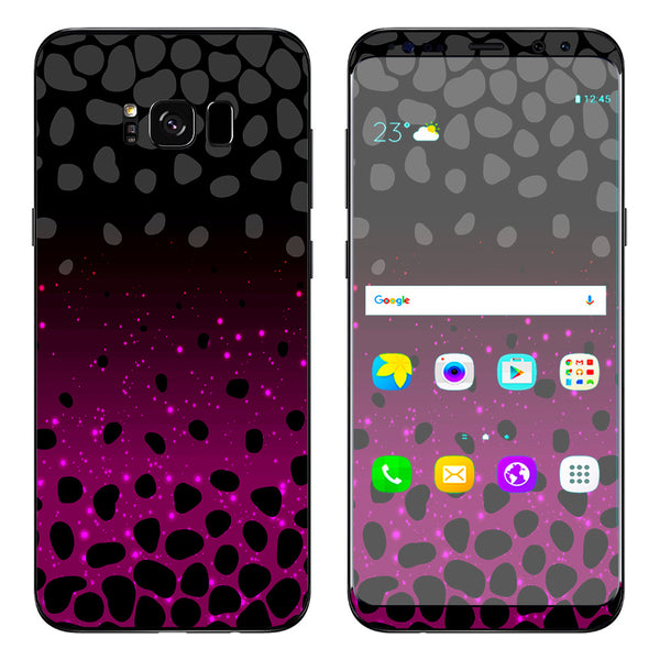 Skins Decals For Samsung Galaxy S8 Plus Spotted Pink Black Wallpaper Itsaskin Com