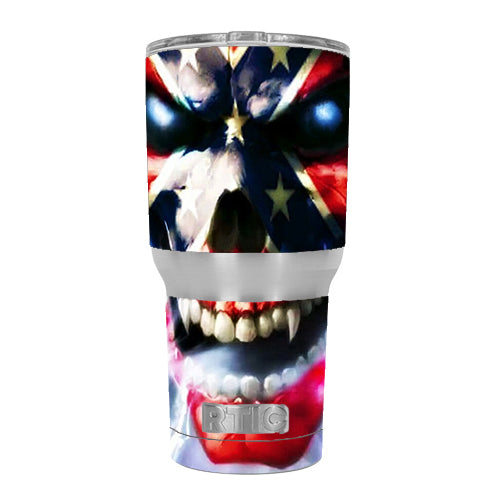 Southern Skull Flag The South RTIC 30oz Tumbler Skin