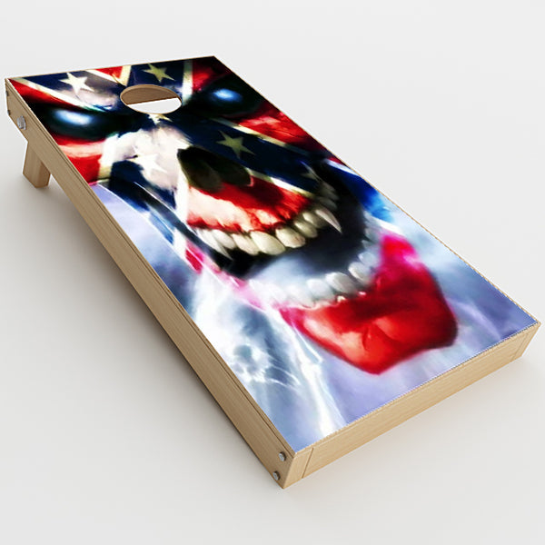 Southern Skull Flag The South Cornhole Game Boards  Skin