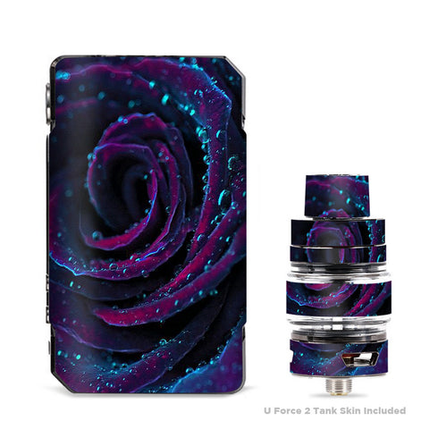 Purple Rose Pedals Water Drops VooPoo Drag Mini Skin