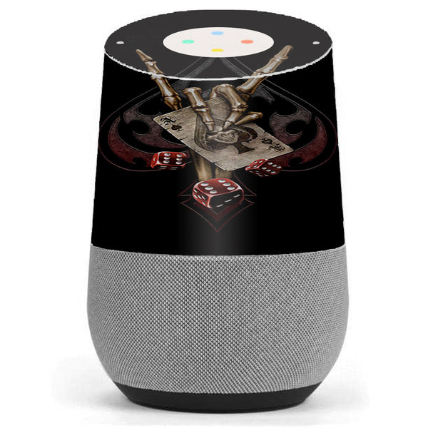 Ace Of Spades Skull Hand Google Home Skin