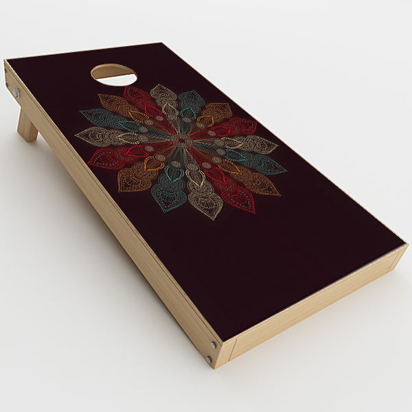 Mandala Flower Pattern Cornhole Game Boards  Skin