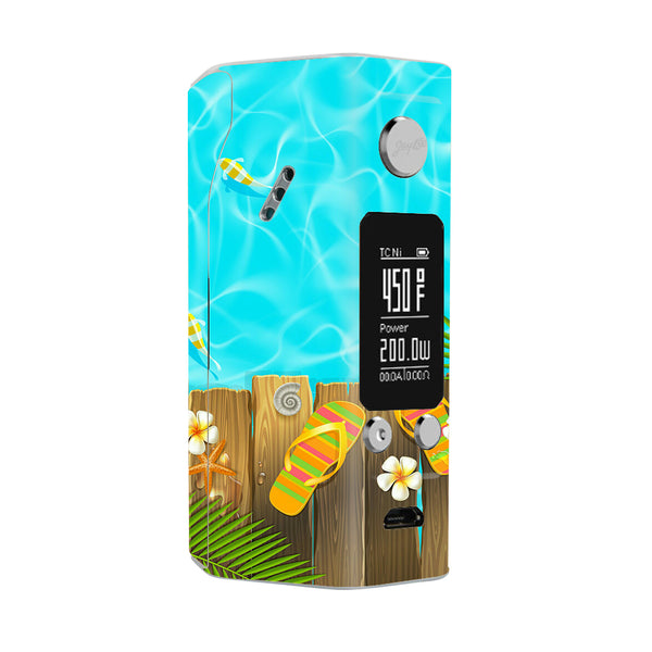 Flip Flops And Fish Summer Wismec Reuleaux RX200S Skin