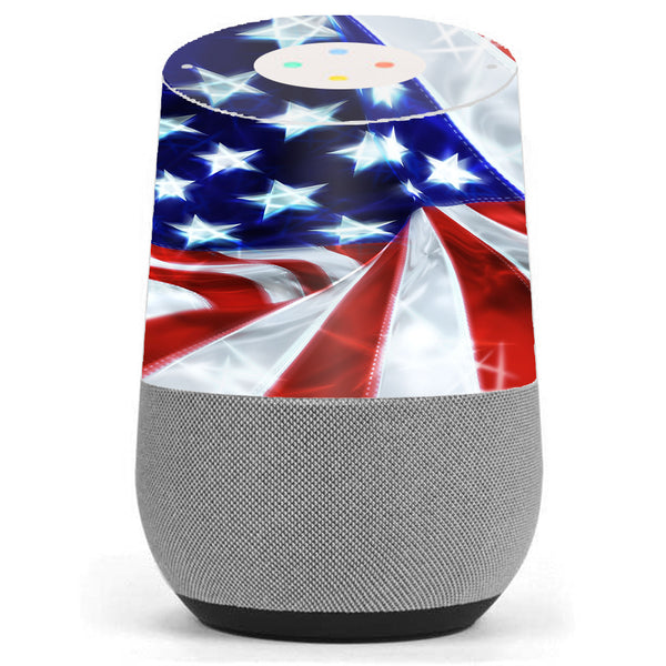 Electric American Flag U.S.A. Google Home Skin