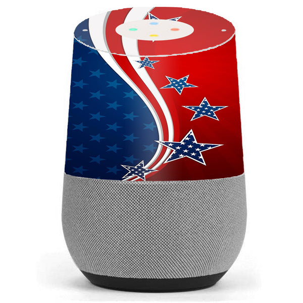 America Independence Stars Stripes Google Home Skin
