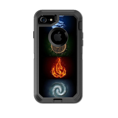 Elements Water Earth Fire Air Otterbox Defender iPhone 7 or iPhone 8 Skin