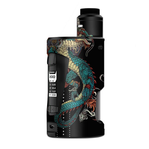 Dragon Japanese Style Tattoo G Box Squonk Geek Vape Skin