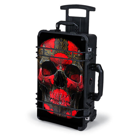 Dark Flowers Skull Art Pelican Case 1510 Skin