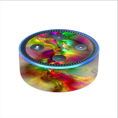 // Neon Color Swirl Glass 2nd gen Skin Decal for Amazon Echo Dot
