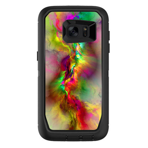 Color Explosion Colorful Design Otterbox Defender Samsung Galaxy S7 Edge Skin