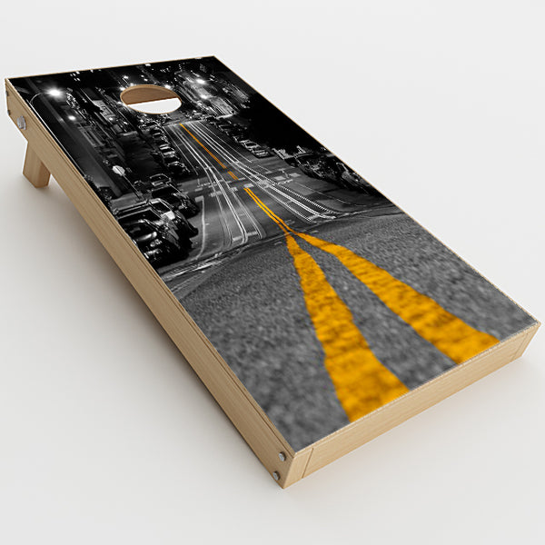 City Roads Downtown Streets Cornhole Game Boards  Skin