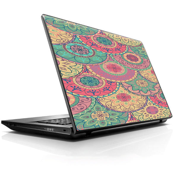 Circle Mandala Design Pattern Universal 13 to 16 inch wide laptop Skin
