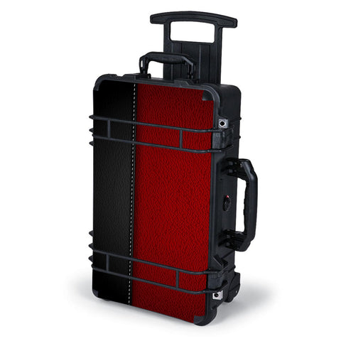 Black And Red Leather Pattern Pelican Case 1510 Skin