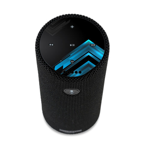 Black Blue Sharp Design Edge Amazon Tap Skin
