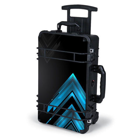 Black Blue Sharp Design Edge Pelican Case 1510 Skin