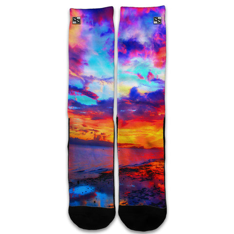 Beautiful Landscape Water Colorful Sky Universal Socks