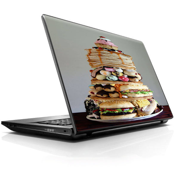 Ultimate Foodie Stack All Foods Universal 13 to 16 inch wide laptop Skin