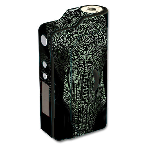 Aztec Elephant Tribal Design Sigelei 150W TC Skin