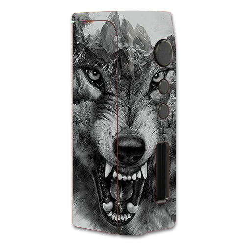 Angry Wolf Growling Mountains Pioneer4You iPVD2 75W Skin