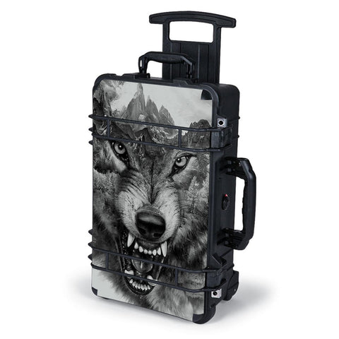 Angry Wolf Growling Mountains Pelican Case 1510 Skin