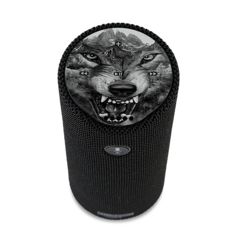 Angry Wolf Growling Mountains Amazon Tap Skin