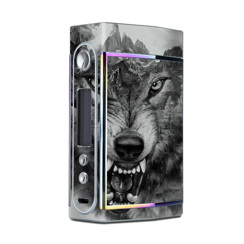 Angry Wolf Growling Mountains Too VooPoo Skin