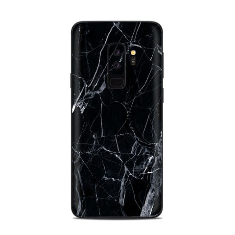 Black Marble Granite White Samsung Galaxy S9 Plus Skin