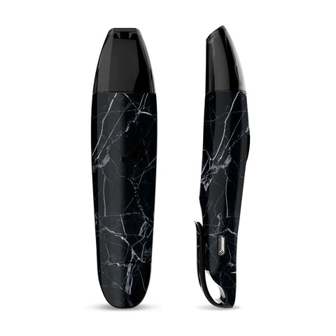Skin Decal for Suorin Vagon  Vape / Black Marble Granite White