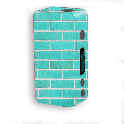 Teal Baby Blue Brick Wall Smok Kooper Plus 200w Skin