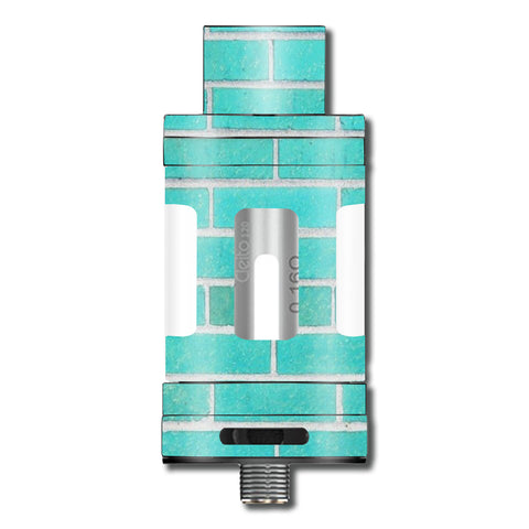 Teal Baby Blue Brick Wall Aspire Cleito 120 Skin