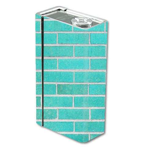 Teal Baby Blue Brick Wall Smok Xcube BT50 Skin