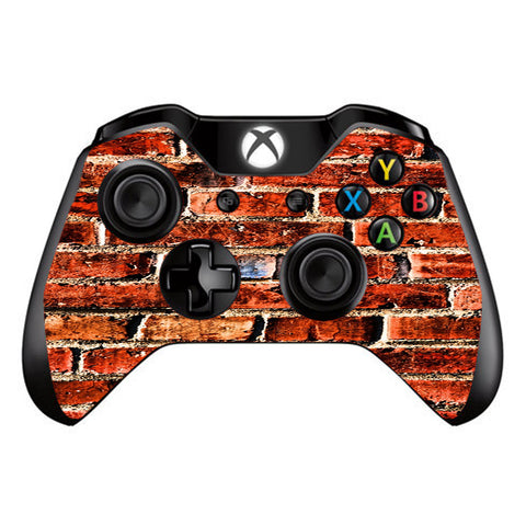 Red Brick Wall Rough Brickhouse  Microsoft Xbox One Controller Skin