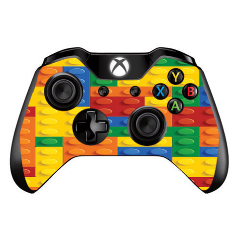 Playing Blocks Bricks Colorful Snap  Microsoft Xbox One Controller Skin