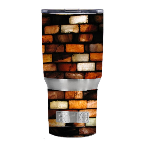 Stained Glass Bricks Brick Wall RTIC 20oz Tumbler Skin