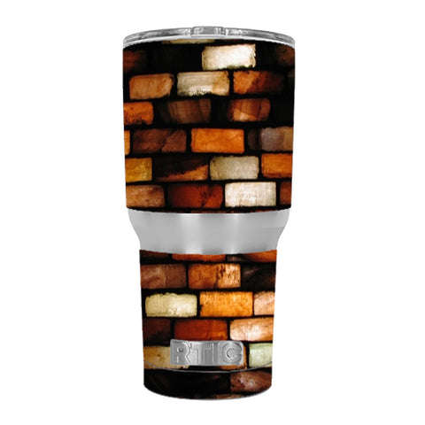 Stained Glass Bricks Brick Wall RTIC 30oz Tumbler Skin
