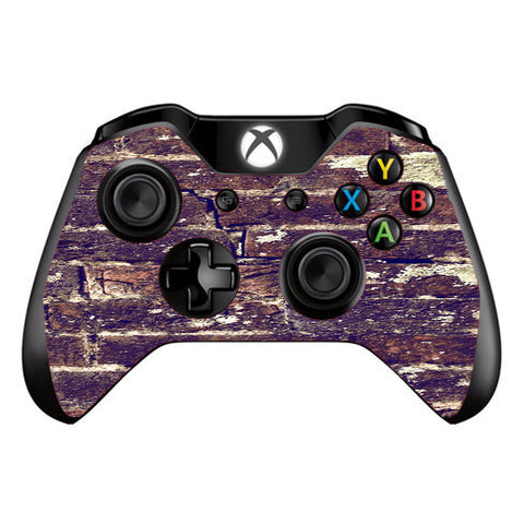 Aged Used Rough Dirty Brick Wall Panel Microsoft Xbox One Controller Skin