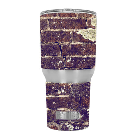 Aged Used Rough Dirty Brick Wall Panel RTIC 30oz Tumbler Skin