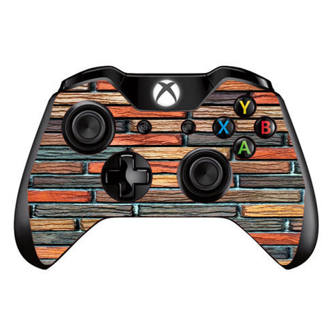Colorful Brick Wall Design Microsoft Xbox One Controller Skin
