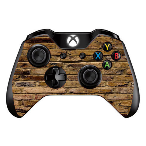 Brown Rough Brick Wall  Microsoft Xbox One Controller Skin