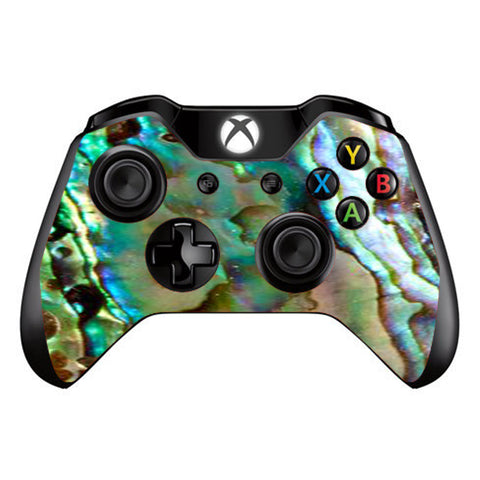 Abalone Sea Shell Gold Blues Beautiful Microsoft Xbox One Controller Skin