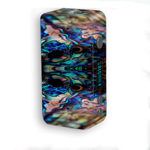 Abalone Blue Black Shell Design Smok Kooper Plus 200w Skin