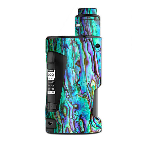 Abalone Ripples Green Blue Purple Shells G Box Squonk Geek Vape Skin