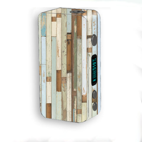 Beach Wood Panels Teal White Wash Smok Kooper Plus 200w Skin