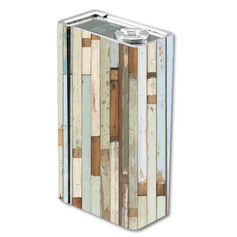 Beach Wood Panels Teal White Wash Smok Xcube BT50 Skin
