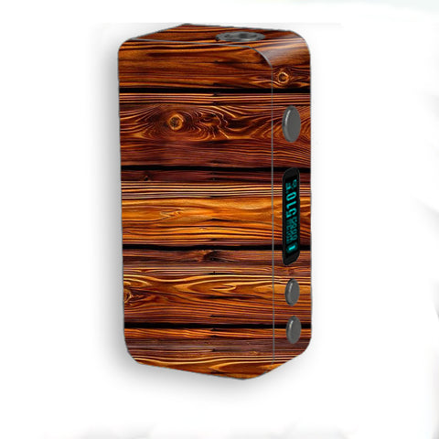 Red Deep Mahogany Wood Pattern Smok Kooper Plus 200w Skin