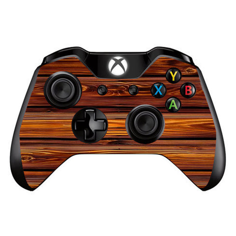 Red Deep Mahogany Wood Pattern Microsoft Xbox One Controller Skin